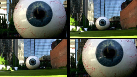 Multiple Eyes Staring At Screen stock footage