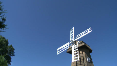 Large stone windmill (2 of 3) Footage