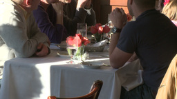 Diners at restaurant (1 of 3) Footage