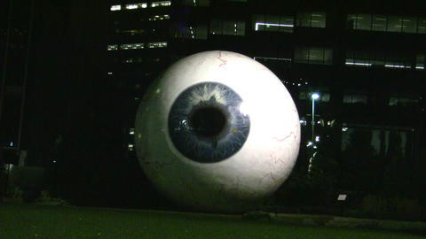 Giant Eye At Night Starring At You Footage