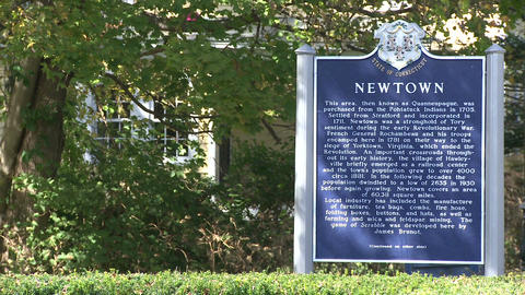Newtown welcome sign (1 of 1) Footage