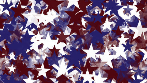 4k Stars particle background,USA United States American flag five-pointed star Footage