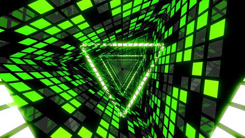 VJ Loop Green Triangular Tunnel 4 Animation