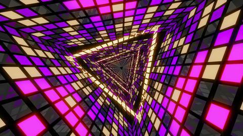VJ Loop Violet Gold Tunnel 2 Animation