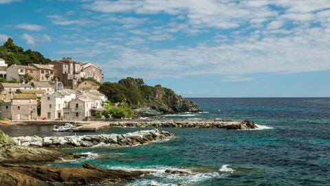 Timelapse, Marine de Pietracorbara, Corsica, France Footage