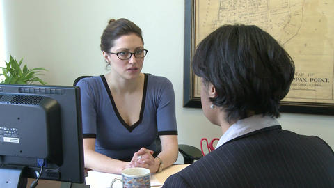 Young female professional gets bad news Live Action