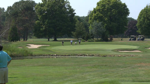 Pine Orchard Golf Course (1 Of 2) stock footage