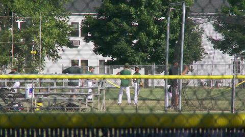 Baseball team warming up (2 of 2) Footage