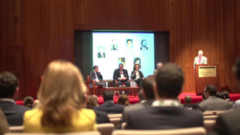 Back of audience at business conference (2 of 2) Footage