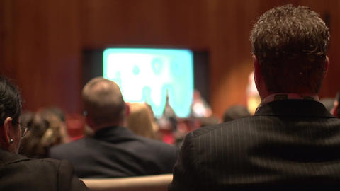 Back of audience at business conference (1 of 2) Footage