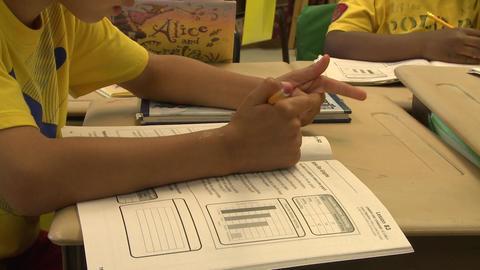 School children doing classwork (6 of 8) Footage