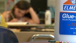 School children doing classwork (1 of 8) Footage