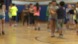 Children dancing in gym class (2 of 3) Live Action