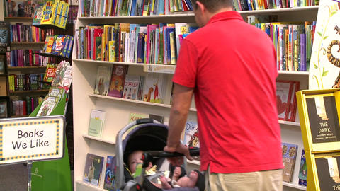 Inside a good bookstore (2 of 3) Footage