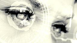 Eyes scanning a futuristic interface Animation