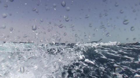 Wake Behind a Ship Footage