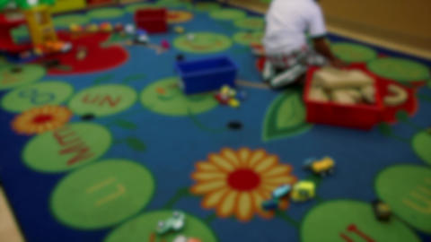 Indoor playtime in classroom (1 of 2) Stock Video Footage