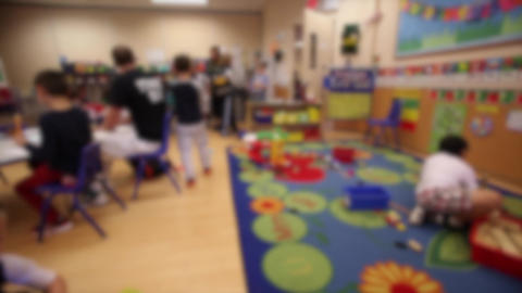 Indoor playtime in classroom (2 of 2) Footage