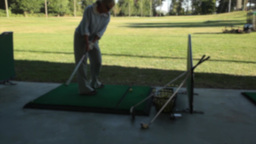 Woman at the driving range (2 of 2) Footage