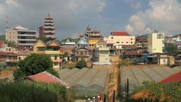 Vietnamese Village with Pagoda, Linh Phuoc