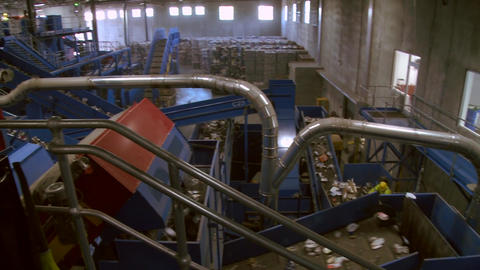 Recycling Factory (1 Of 2) stock footage