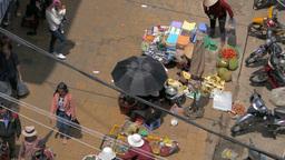 DA LAT, VIETNAM - May 2015: Street View Of Da Lat Market From Above stock footage