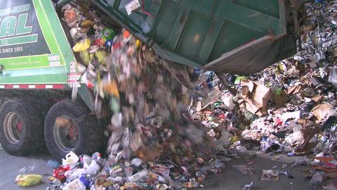 Dump trucks dumping waste (2 of 11) Footage