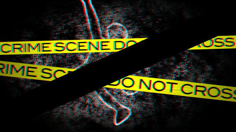 Crime Scene 01 Stereoscopic 3D Anaglyph red blue Animation