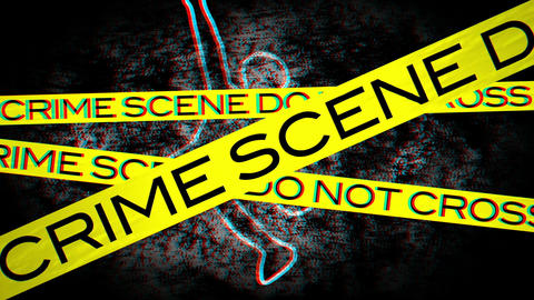 Crime Scene 01 Stereoscopic 3D Anaglyph red blue Stock Video Footage