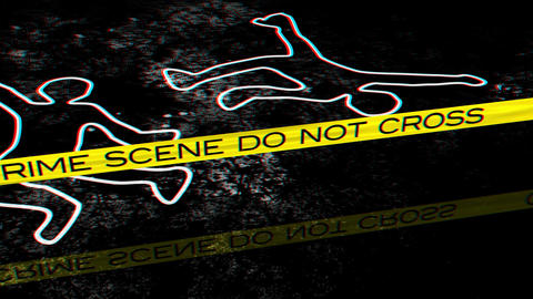 Crime Scene 02 Stereoscopic 3D Anaglyph red blue Stock Video Footage