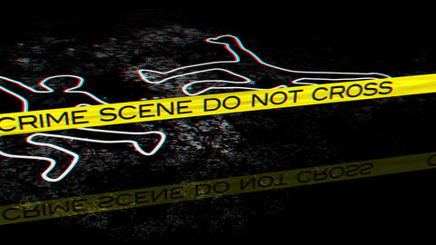Crime Scene 02 Stereoscopic 3D Anaglyph red blue Animation