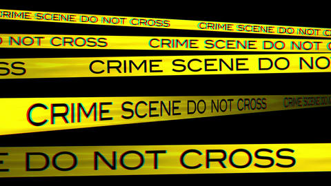 Crime Scene 03 Stereoscopic 3D Anaglyph red blue Stock Video Footage