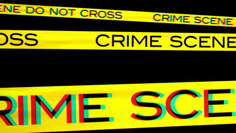 Crime Scene 03 Stereoscopic 3D Anaglyph red blue Animation