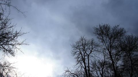 Horror Scene Clouds Timelapse 01 Stock Video Footage