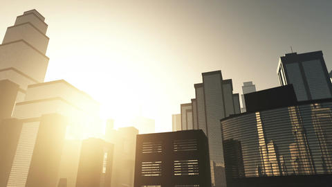 Metropolis Sunset 01 Stock Video Footage