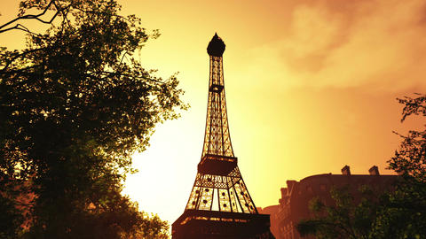 Sunset in Paris 02 Animation
