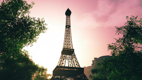 Sunset in Paris 04 Stock Video Footage