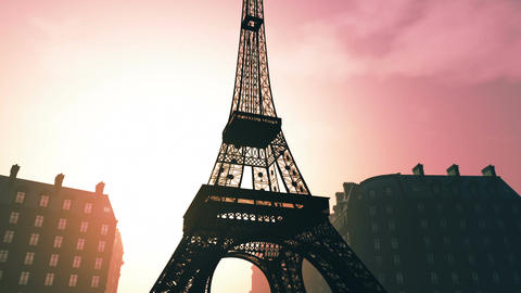 Sunset in Paris 06 Stock Video Footage