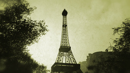 Sunset in Paris 08 vintage Stock Video Footage