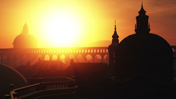 Sunset in Rome 01 Stock Video Footage