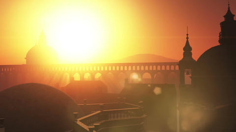 Sunset in Rome 05 Stock Video Footage