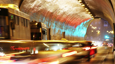 Tunnel Traffic Timelapse 01 Stock Video Footage