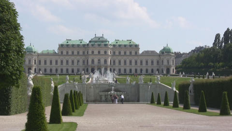 Vienna Belvedere Stock Video Footage
