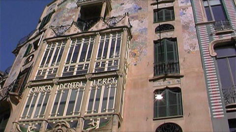 Palma de Majorca architecture Stock Video Footage