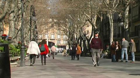 Palma de Mallorca City life Stock Video Footage