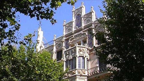 Architecture in Palma de Majorca Stock Video Footage
