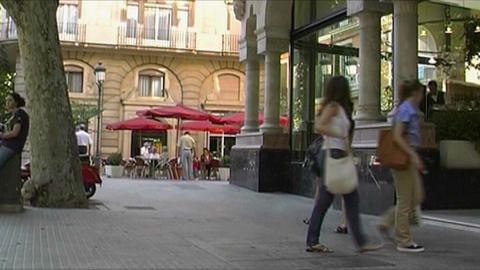 Palma de Mallorca - City life Stock Video Footage