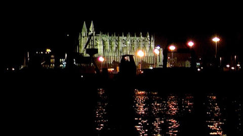 Palma de Majorca - by night Stock Video Footage