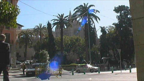 Palma de Mallorca City life Stock Video Footage