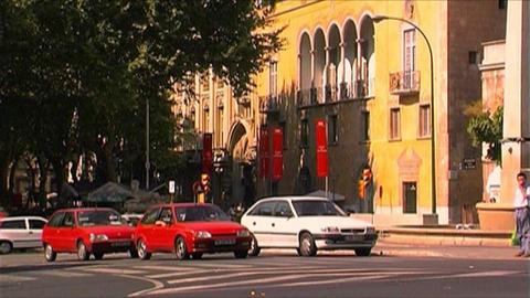 Palma de Mallorca - City traffic Stock Video Footage